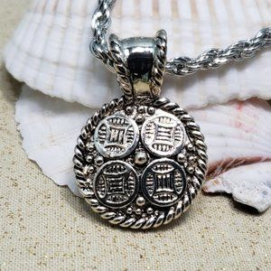 Silver plated Chinese Asian symbol necklace